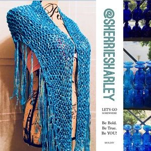 Accessories - Hand Crocheted Chameleon Wrap / Scarf